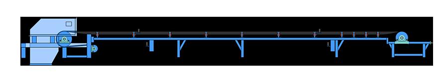 小型槽式固定皮带输送机
